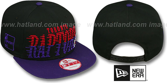 Raptors 'SAILTIP SNAPBACK' Black-Purple Hat by New Era : pictured without stickers that these products are shipped with