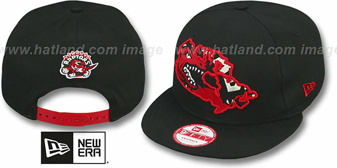 Raptors 'TEAM-INSIDER SNAPBACK' Black Hat by New Era : pictured without stickers that these products are shipped with