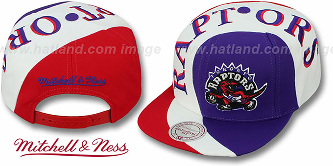 Raptors 'TWIRL SNAPBACK' Hat by Mitchell & Ness : pictured without stickers that these products are shipped with