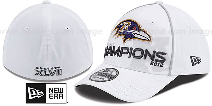 Ravens 2012 AFC 'CONFERENCE CHAMPS' Hat by New Era : pictured without stickers that these products are shipped with