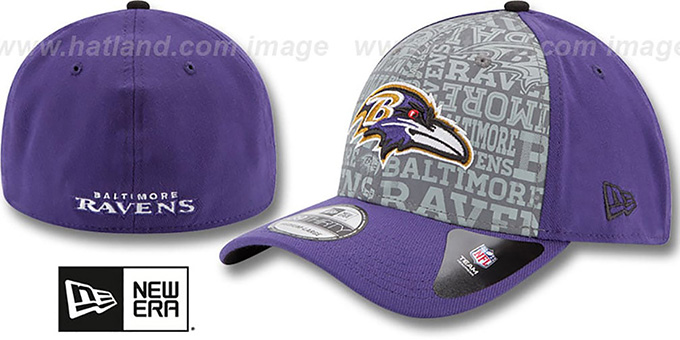 Ravens '2014 NFL ALT DRAFT FLEX' Purple Hat by New Era : pictured without stickers that these products are shipped with