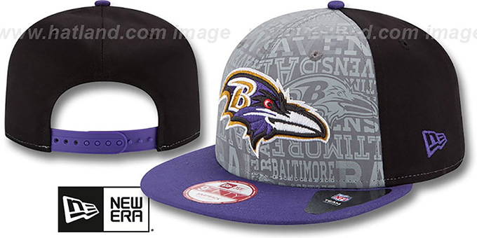 Ravens '2014 NFL DRAFT SNAPBACK' Black-Purple Hat by New Era : pictured without stickers that these products are shipped with
