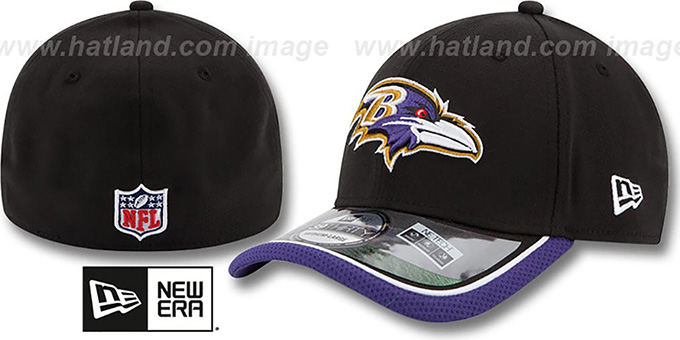 Ravens '2014 NFL STADIUM FLEX' Black Hat by New Era : pictured without stickers that these products are shipped with