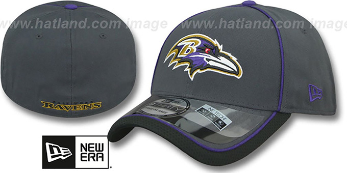 Ravens '2014 NFL STADIUM FLEX' Grey Hat by New Era : pictured without stickers that these products are shipped with