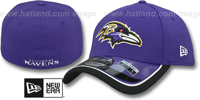 Ravens '2014 NFL STADIUM FLEX' Purple Hat by New Era : pictured without stickers that these products are shipped with