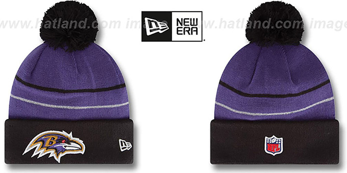 Ravens 'THANKSGIVING DAY' Knit Beanie Hat by New Era : pictured without stickers that these products are shipped with