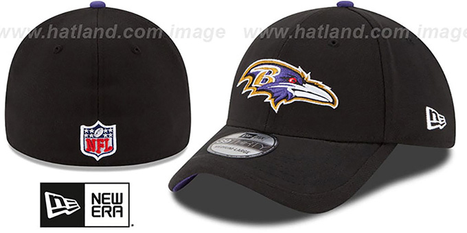 Ravens '2015 NFL STADIUM FLEX' Black Hat by New Era : pictured without stickers that these products are shipped with