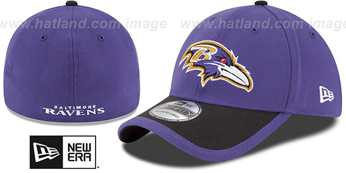 Ravens '2015 NFL STADIUM FLEX' Purple-Black Hat by New Era : pictured without stickers that these products are shipped with