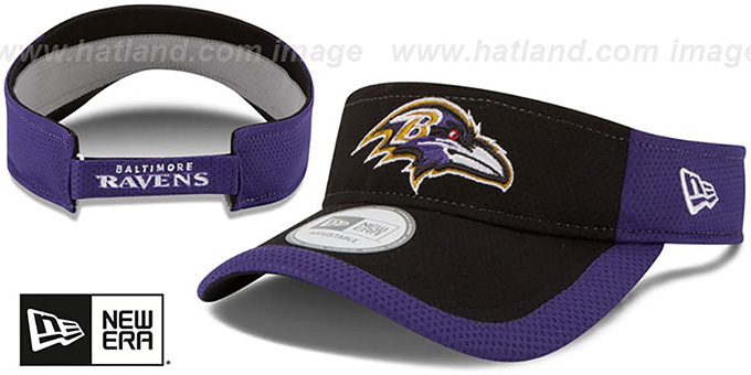 Ravens '2015 NFL TRAINING VISOR' Black-Purple by New Era : pictured without stickers that these products are shipped with