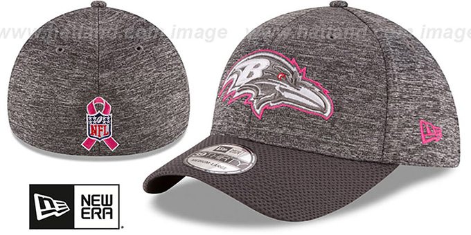 Ravens '2016 BCA FLEX' Grey-Grey Hat by New Era : pictured without stickers that these products are shipped with