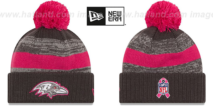 Ravens '2016 BCA STADIUM' Knit Beanie Hat by New Era : pictured without stickers that these products are shipped with