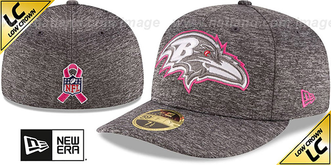 Ravens '2016 LOW-CROWN BCA' Grey Fitted Hat by New Era : pictured without stickers that these products are shipped with