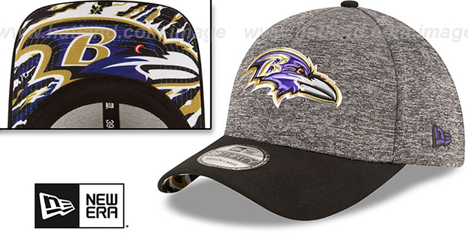 Ravens '2016 NFL DRAFT FLEX' Hat by New Era : pictured without stickers that these products are shipped with
