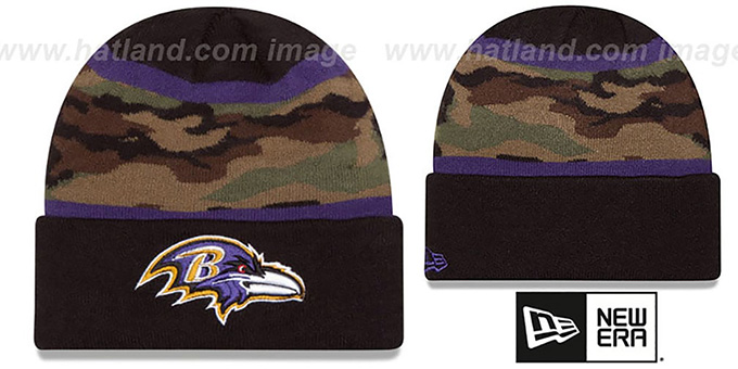 Ravens 'ARMY CAMO FILLZ' Knit Beanie Hat by New Era