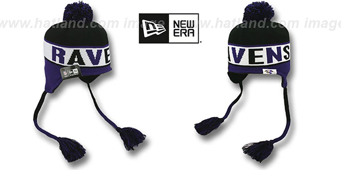 Ravens 'CRAYON BOX' Knit Beanie Hat by New Era : pictured without stickers that these products are shipped with