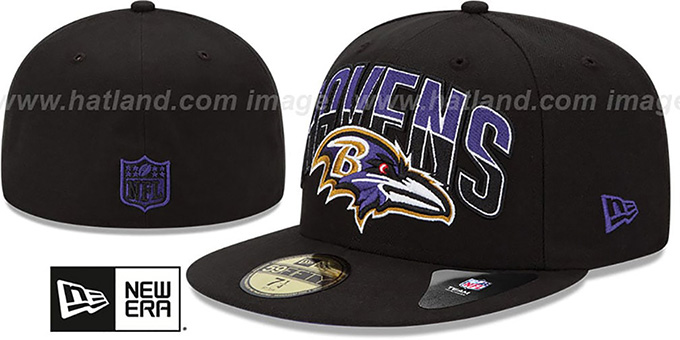 Ravens 'NFL 2013 DRAFT' Black 59FIFTY Fitted Hat by New Era