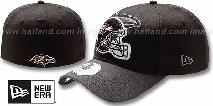 Ravens 'NFL BLACK-CLASSIC FLEX' Hat by New Era : pictured without stickers that these products are shipped with