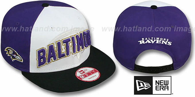 Ravens 'NFL ONFIELD DRAFT SNAPBACK' Hat by New Era : pictured without stickers that these products are shipped with