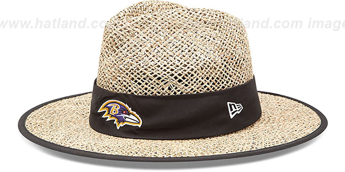 Ravens 'NFL TRAINING STRAW' Hat by New Era : pictured without stickers that these products are shipped with