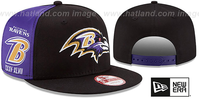 Ravens 'PANEL PRIDE SNAPBACK' Hat by New Era : pictured without stickers that these products are shipped with
