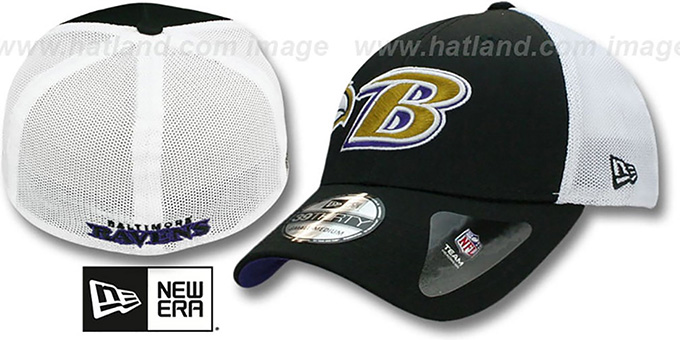 Ravens 'QB SNEAK FLEX' Hat by New Era : pictured without stickers that these products are shipped with