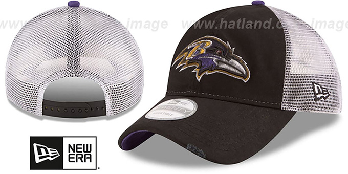 Ravens 'RUSTIC TRUCKER SNAPBACK' Hat by New Era : pictured without stickers that these products are shipped with