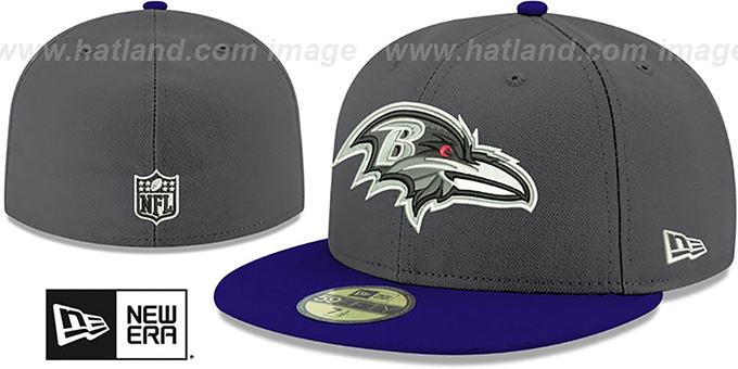 Ravens 'SHADER MELT-2' Grey-Purple Fitted Hat by New Era : pictured without stickers that these products are shipped with
