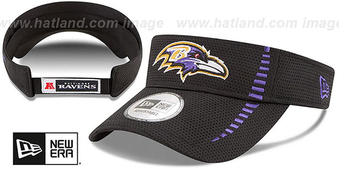 49db3e6be Baltimore Ravens SPEED-VISOR Black by New Era. Ravens  SPEED-VISOR  Black  by ...