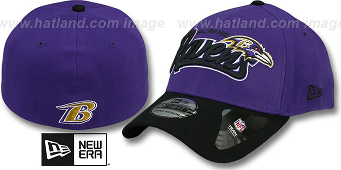 Ravens 'TAILSWOOP FLEX' Hat by New Era : pictured without stickers that these products are shipped with