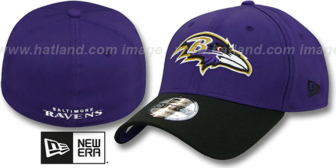 Ravens 'TD CLASSIC FLEX' Purple-Black Hat by New Era : pictured without stickers that these products are shipped with