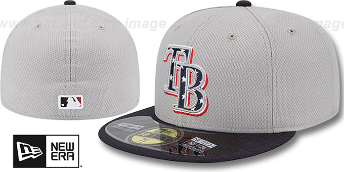 Rays 2013 'JULY 4TH STARS N STRIPES' Hat by New Era : pictured without stickers that these products are shipped with