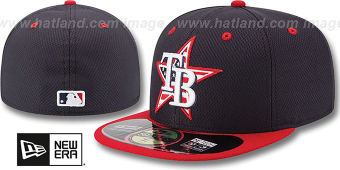 Rays '2014 JULY 4TH STARS N STRIPES' Hat by New Era : pictured without stickers that these products are shipped with