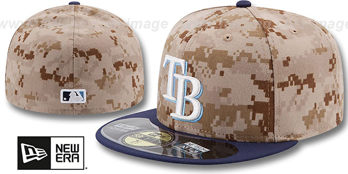 Rays '2014 STARS N STRIPES' Fitted Hat by New Era : pictured without stickers that these products are shipped with