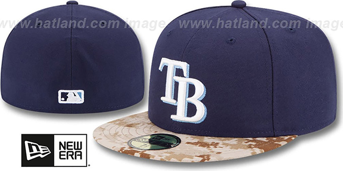 Rays '2015 STARS N STRIPES' Fitted Hat by New Era : pictured without stickers that these products are shipped with