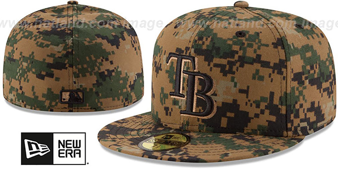 Rays 2016 MEMORIAL DAY 'STARS N STRIPES' Hat by New Era : pictured without stickers that these products are shipped with