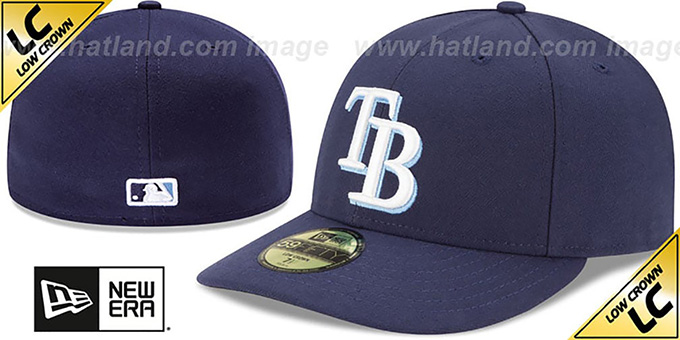 Rays 'LOW-CROWN' GAME Fitted Hat by New Era : pictured without stickers that these products are shipped with