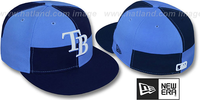 Rays 'MIXER' Navy-Columbia Fitted Hat by New Era : pictured without stickers that these products are shipped with