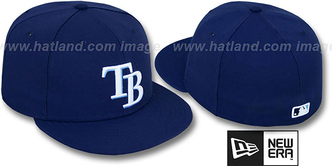 Rays 'PERFORMANCE GAME' Hat by New Era : pictured without stickers that these products are shipped with