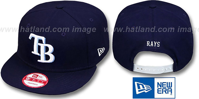 Rays 'REPLICA GAME SNAPBACK' Hat by New Era : pictured without stickers that these products are shipped with