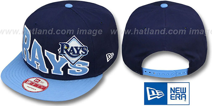 Rays 'STOKED SNAPBACK' Navy-Sky Hat by New Era : pictured without stickers that these products are shipped with