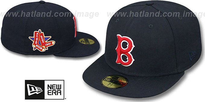 Red Sox 1961 'SIDE ALL-STAR-PATCH' Fitted Hat by New Era : pictured without stickers that these products are shipped with