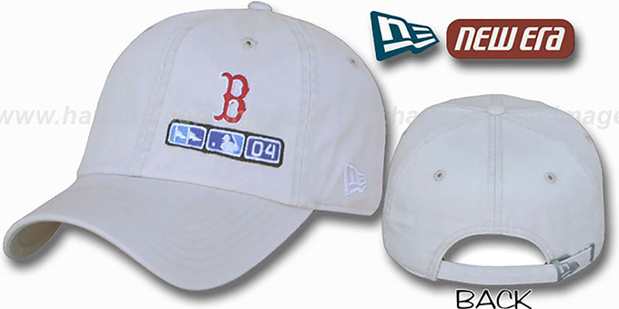 Red Sox 2004 'World Series' Flawless Hat by New Era : pictured without stickers that these products are shipped with