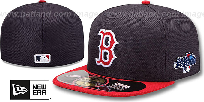 Red Sox '2013 POSTSEASON' DIAMOND-TECH Hat by New Era : pictured without stickers that these products are shipped with