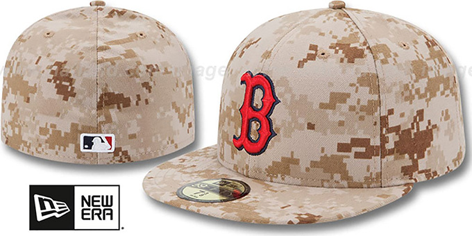 Red Sox 2013 'STARS N STRIPES' Desert Camo Hat by New Era : pictured without stickers that these products are shipped with