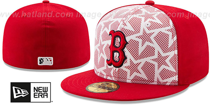 Red Sox '2016 JULY 4TH STARS N STRIPES' Fitted Hat by New Era : pictured without stickers that these products are shipped with