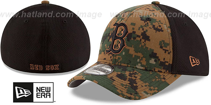 Red Sox 2016 MEMORIAL DAY 'STARS N STRIPES FLEX' Hat by New Era : pictured without stickers that these products are shipped with