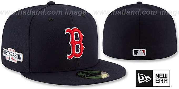 Red Sox 2016 'PLAYOFF GAME' Hat by New Era : pictured without stickers that these products are shipped with