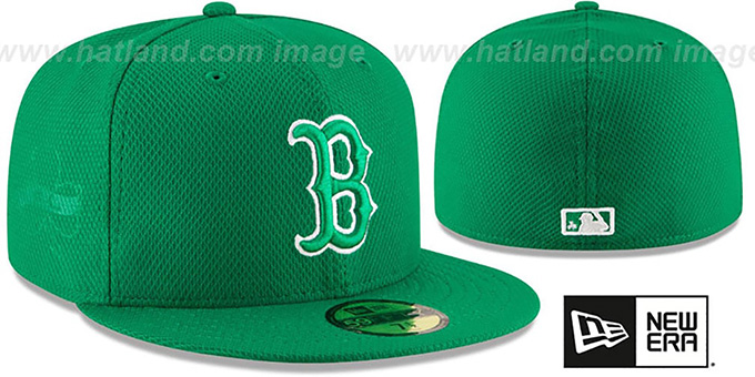 Red Sox '2016 ST PATRICKS DAY' Hat by New Era : pictured without stickers that these products are shipped with