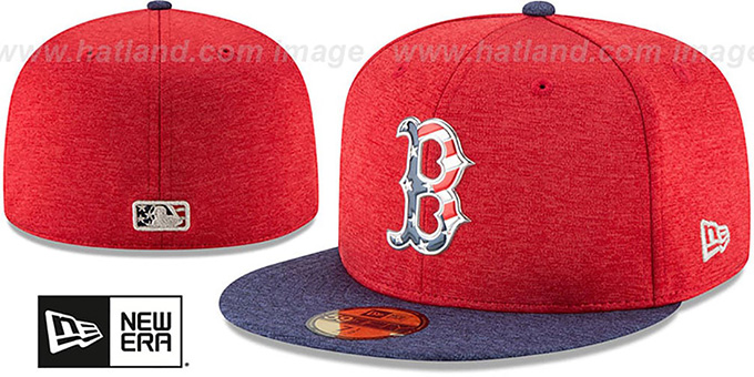 e9438b88275ee Red Sox  2017 JULY 4TH STARS N STRIPES  Fitted Hat by New Era