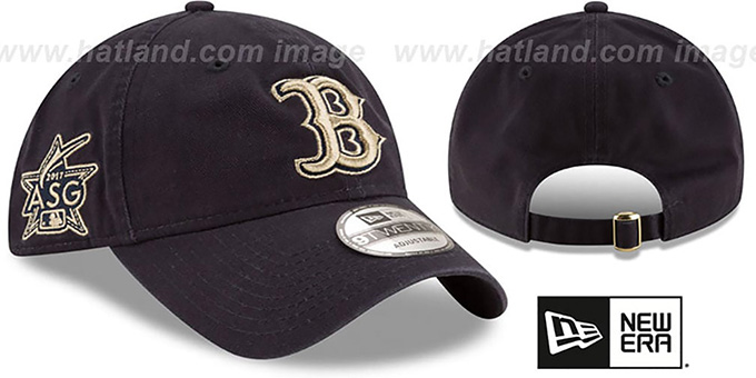 Red Sox '2017 MLB ALL-STAR STRAPBACK' Navy Hat by New Era : pictured without stickers that these products are shipped with